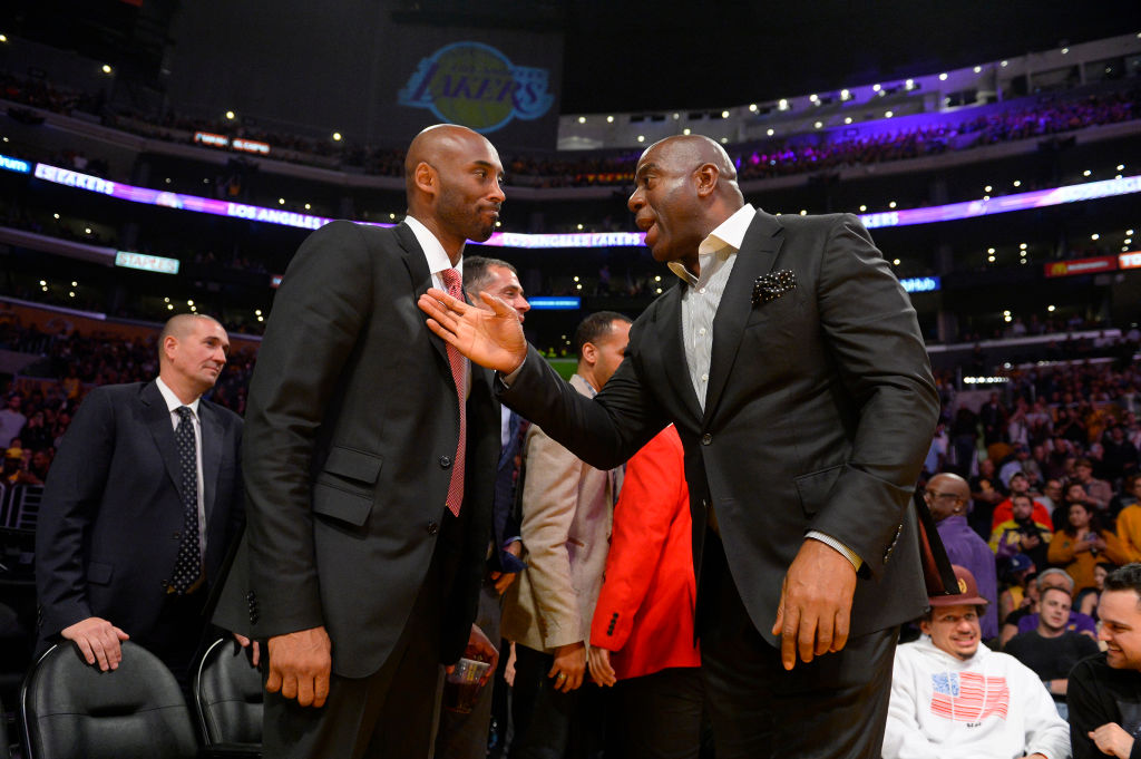 Former Lakers Kobe Bryant and Magic Johnson