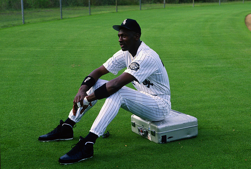 Michael Jordan of the Birmingham Barons baseball team