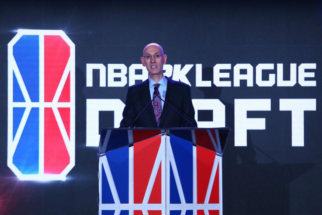 Commissioner Adam Silver announces the No. 1 overall NBA Draft pick