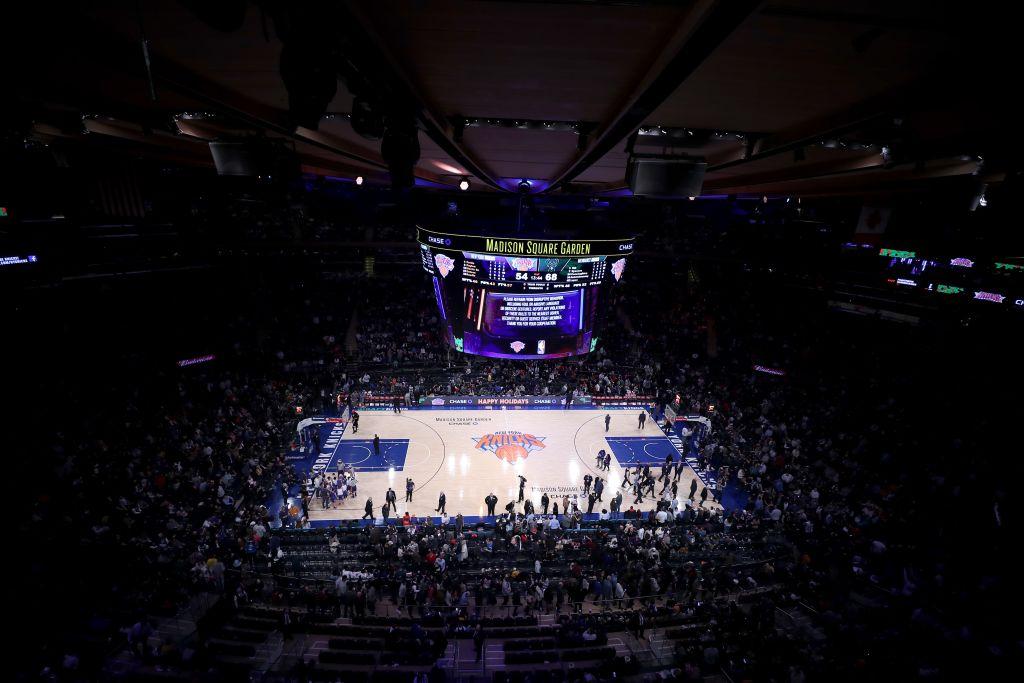 NBA game between New York Knicks and Milwaukee Bucks at Madison Square Garden in New York
