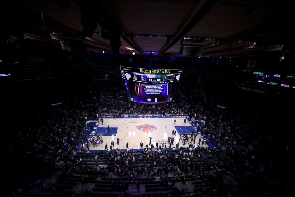 NBA game between New York Knicks and Milwaukee Bucks at Madison Square Garden in New York