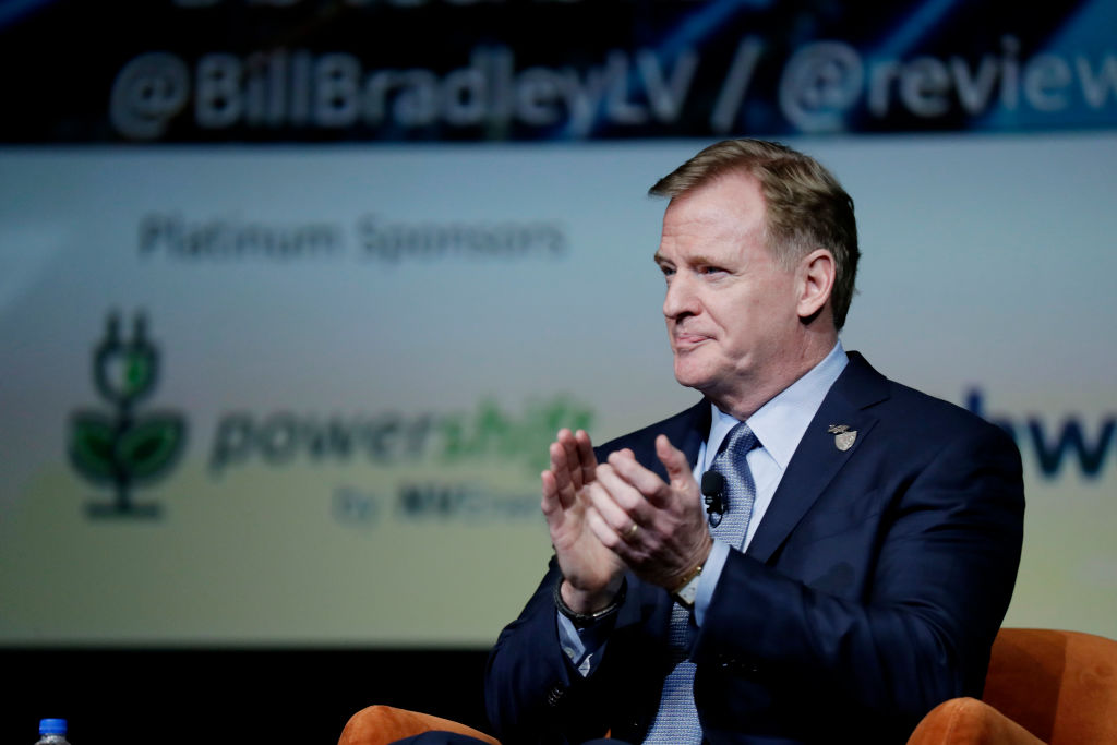 NFL Commissioner Roger Goodell speaking at an event