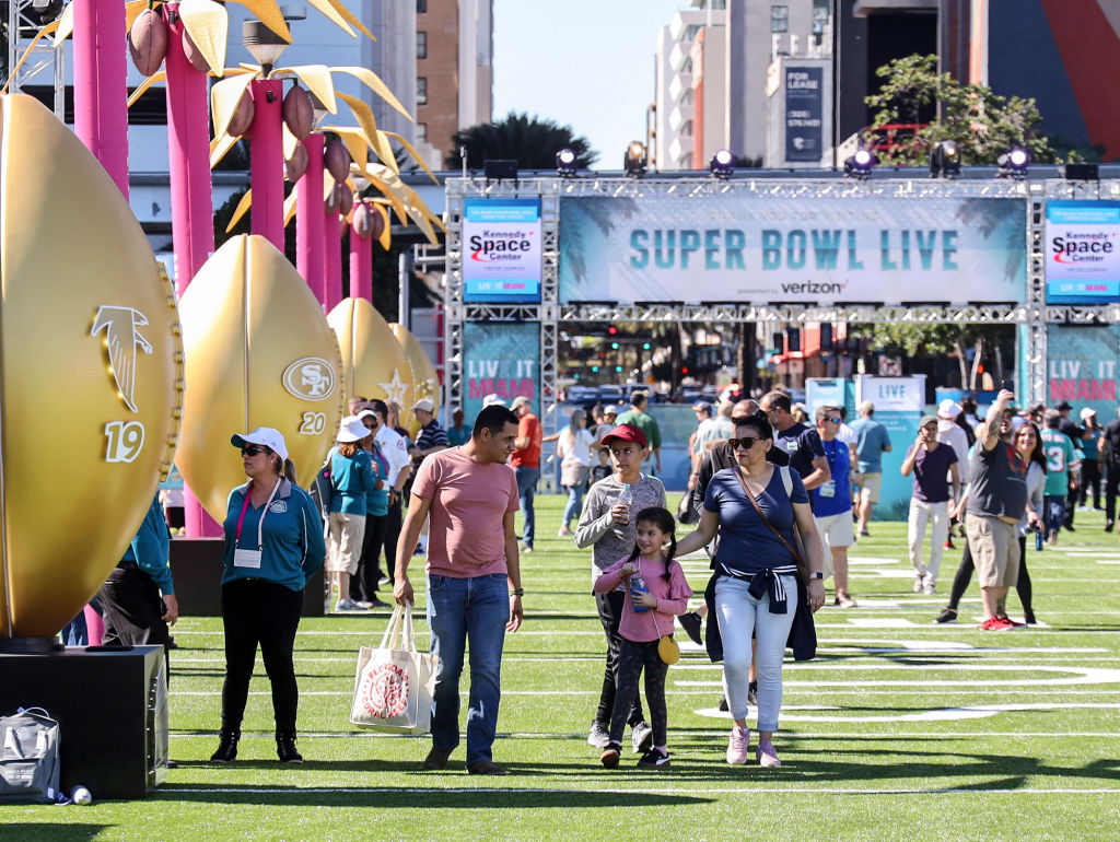 Super Bowl LIV festivities the week before the championship