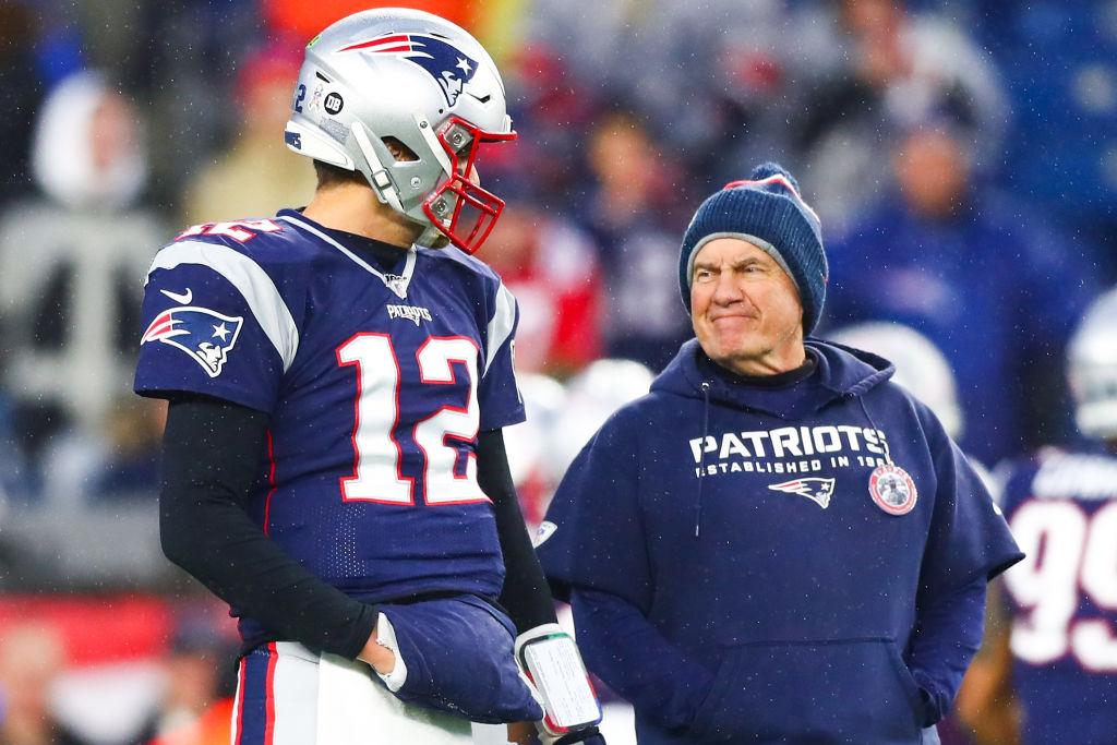 Patriots quaterback Tom Brady and Head Coach Bill Belichick