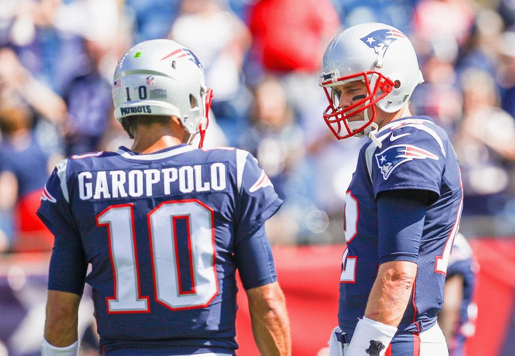 Former Patriots teammates Tom Brady and Jimmy Garoppolo