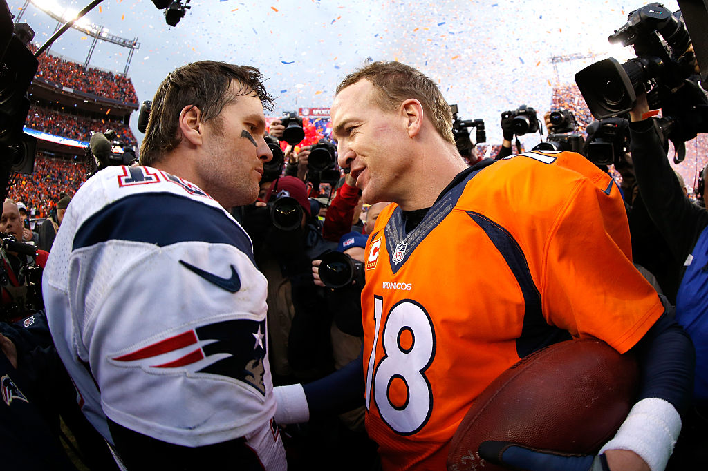 NFL quarterback Tom Brady and Peyton Manning
