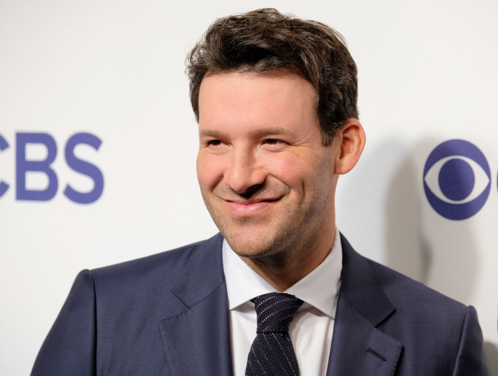Tony Romo attends a 2018 CBS event