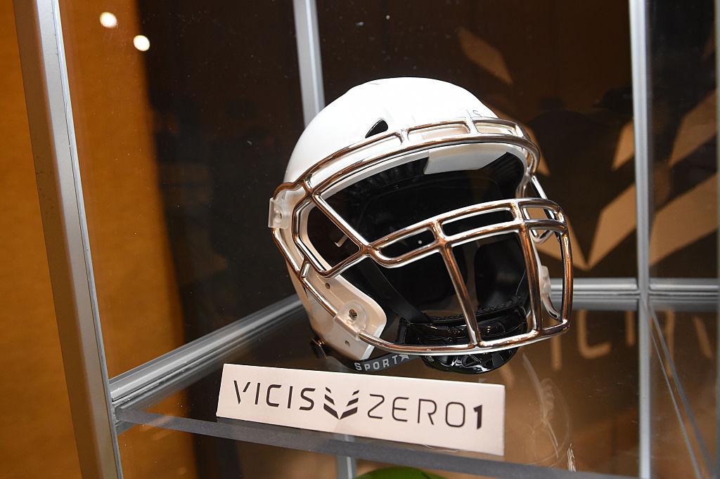 The Vicis Zero1 helmet technology on display