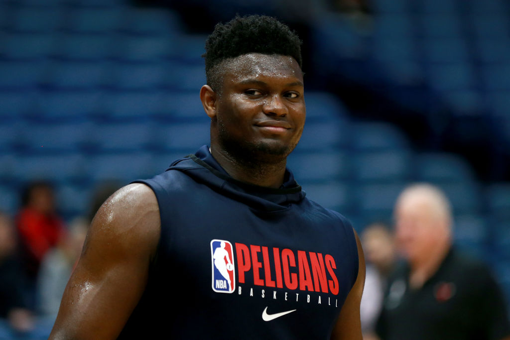 Pelicans rookie forward Zion Williamson