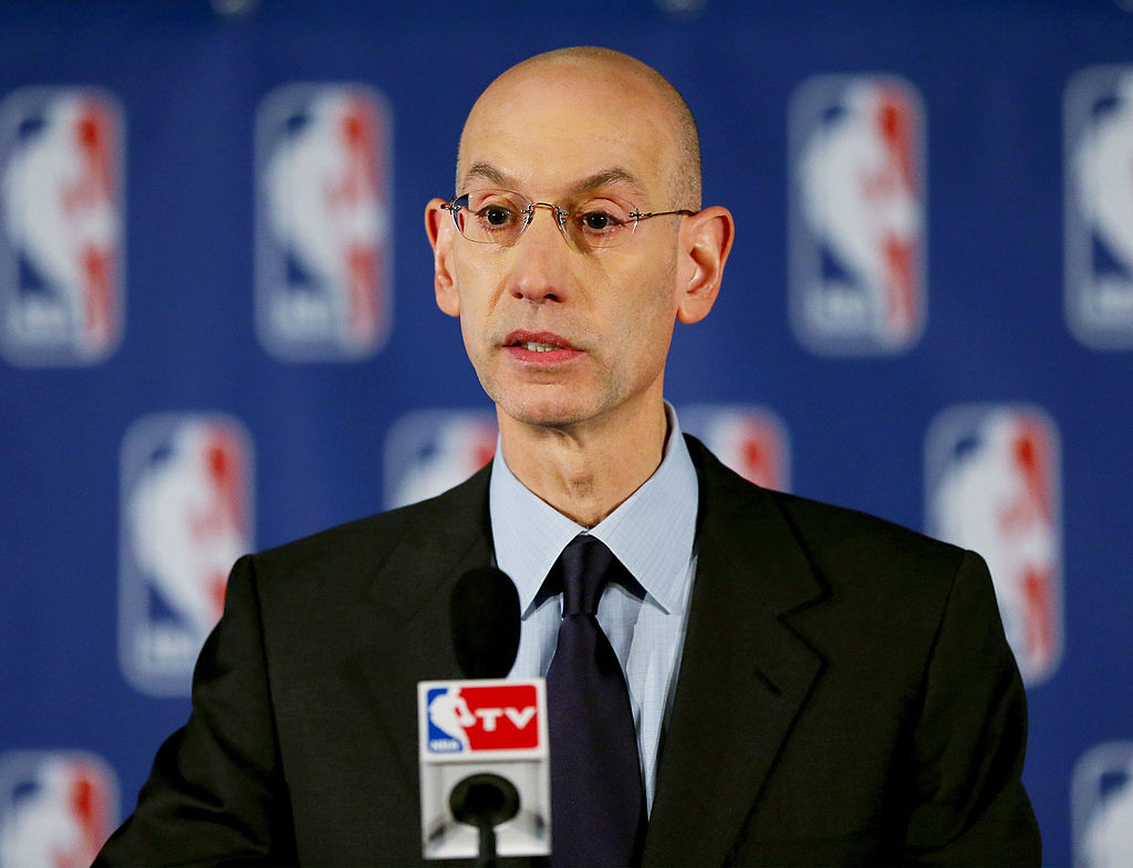 Adam Silver at an NBA press conference