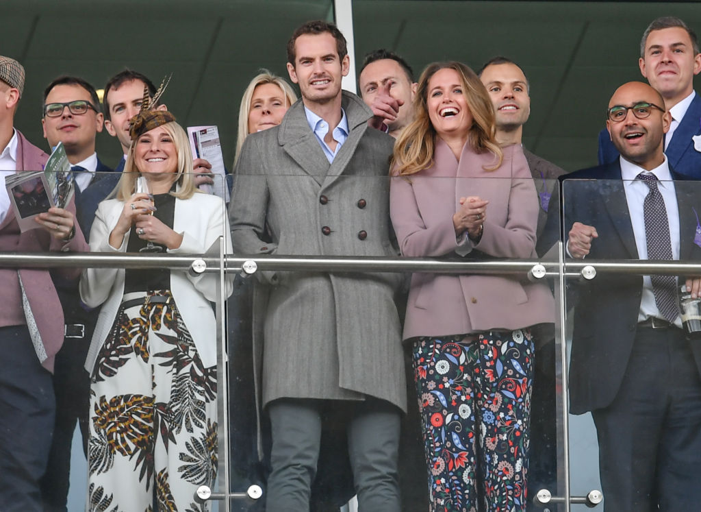 Andy Murray and wife Kim seen at The Festival, Cheltenham Racecourse