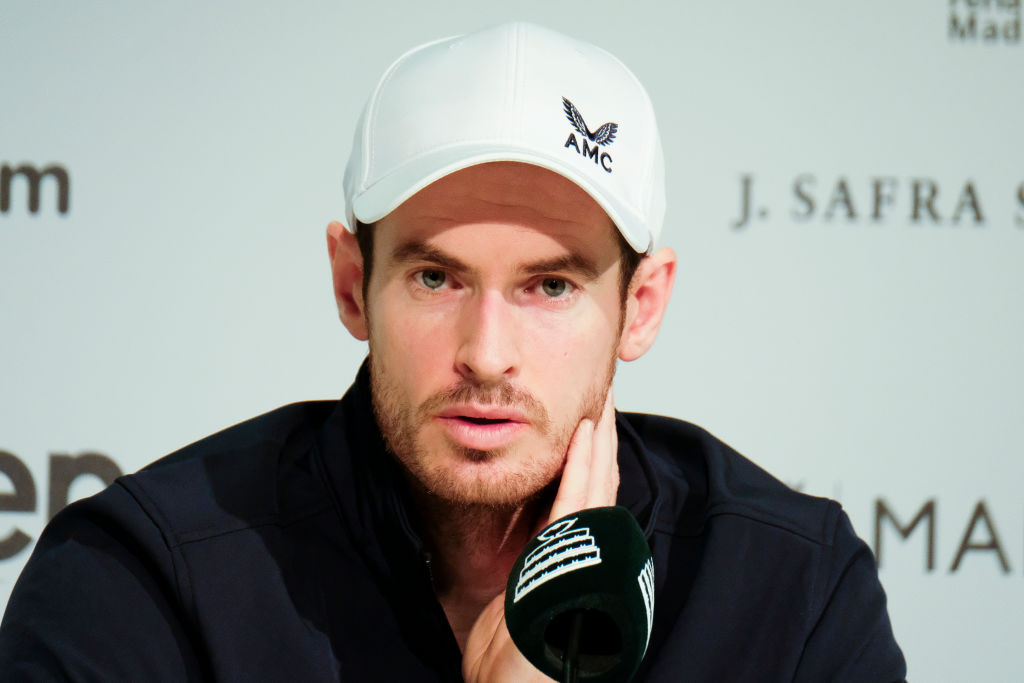 Andy Murray in a press conference during the 2019 Davis Cup