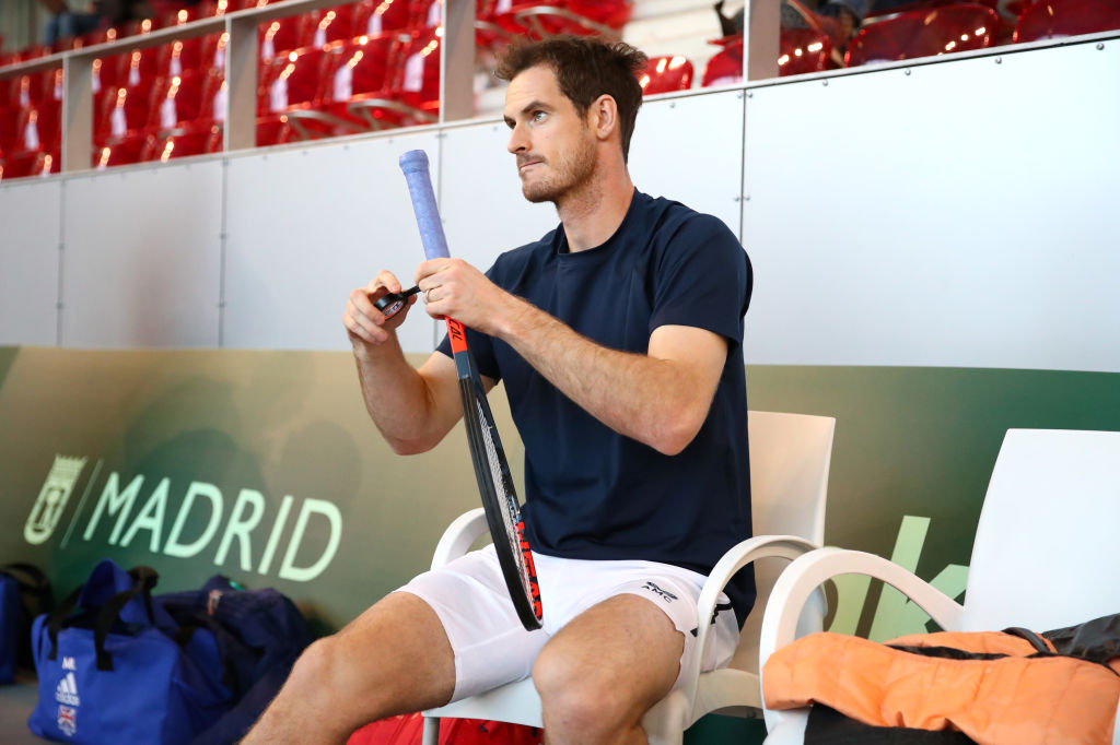 Andy Murray of Great Britain during the 2019 Davis Cup