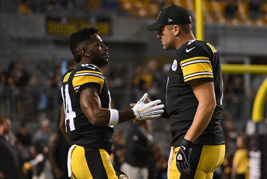 Former Steelers teammates Antonio Brown and Ben Roethlisberger