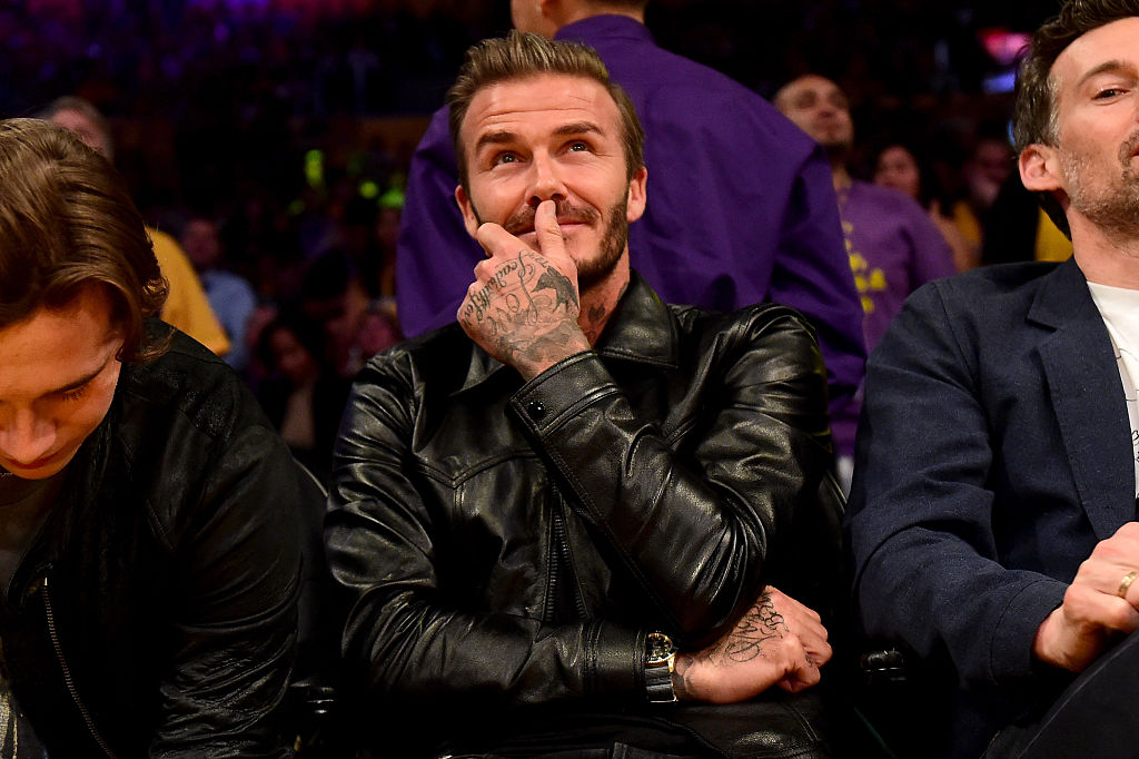 David Beckham has courtside tickets at a Los Angeles Lakers