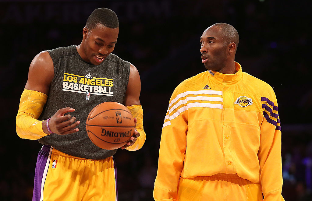 Former Lakers teammates Dwight Howard and Kobe Bryant