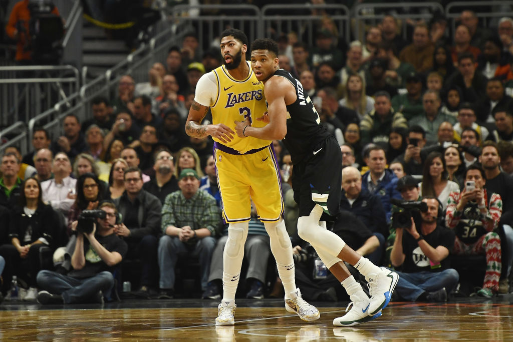 Bucks' Giannis Antetokounmpo and Lakers' Anthony Davis
