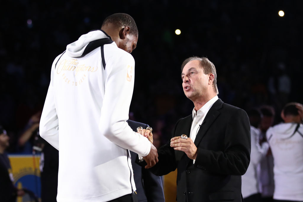 Warriors owner Joe Lacob and forward Kevin Durant