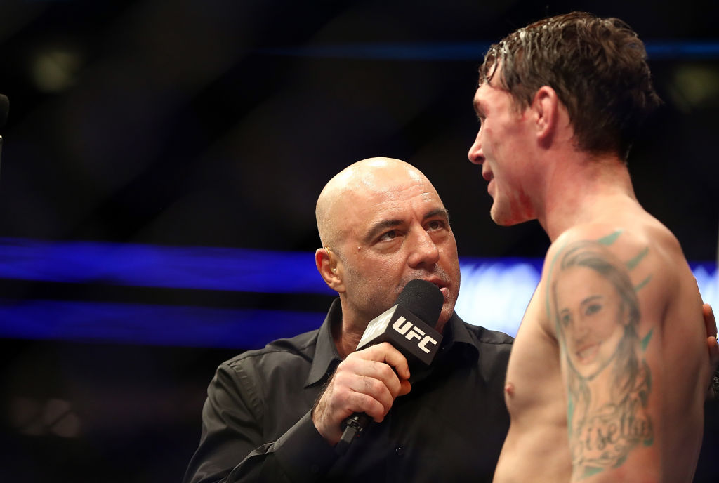 Longtime UFC commentator Joe Rogan didn't care for firebrand Stephen A. Smith bashing Donald Cerrone after a fight, and neither did UFC president Dana White.