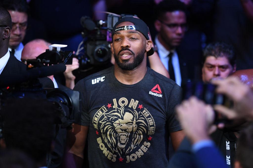 Jon Jones walks into the UFC octagon