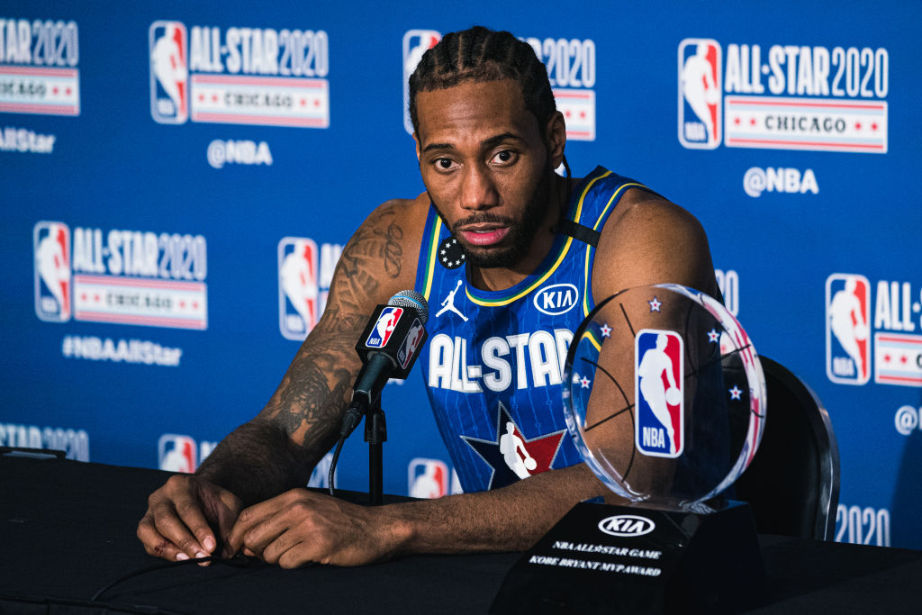 Clippers forward Kawhi Leonard