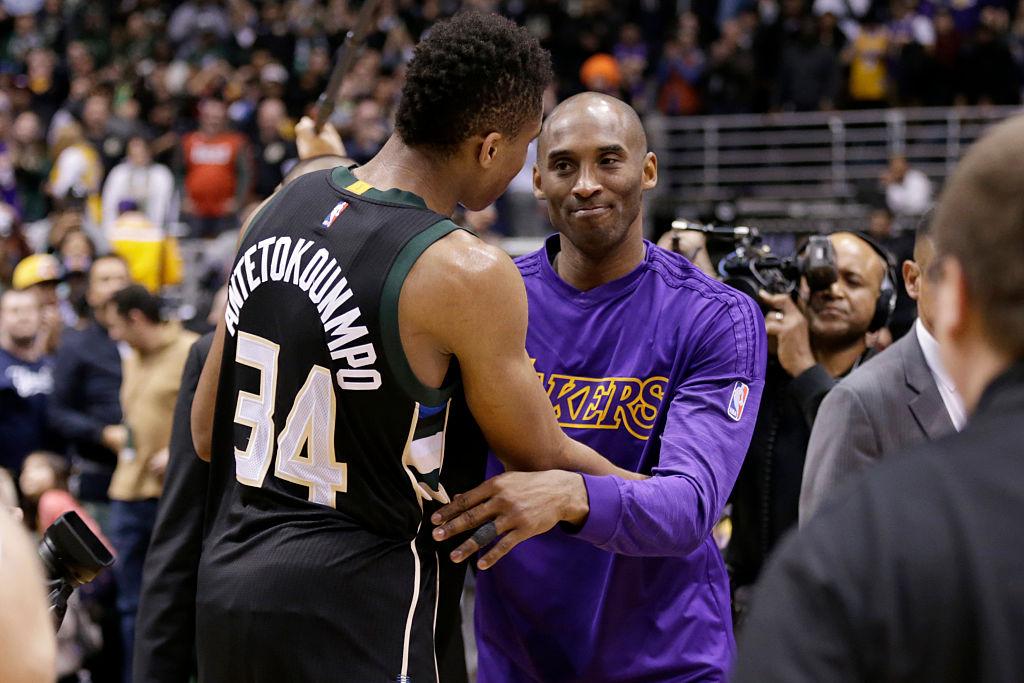 Giannis Antetokounmpo and Kobe Bryant