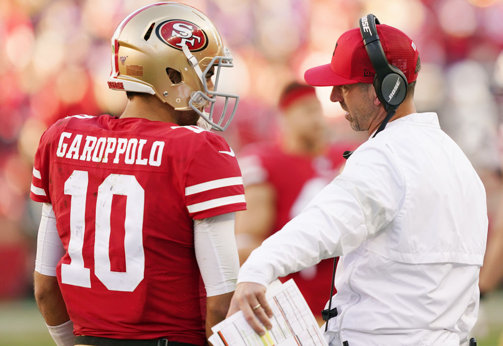 Kyle Shanahan isn't giving up on Jimmy Garoppolo just yet.