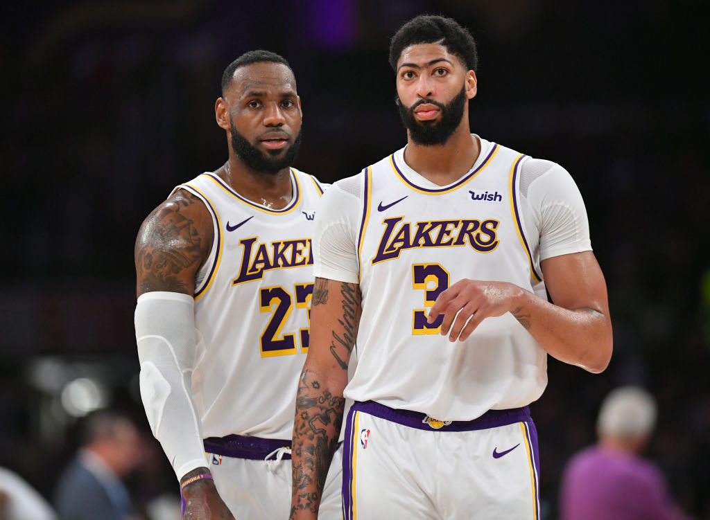 Lakers forward LeBron James and Anthony Davis