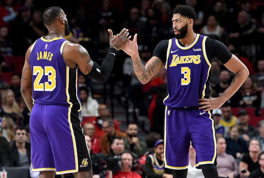 LeBron James spoke highly of Anthony Davis' basketball ability.