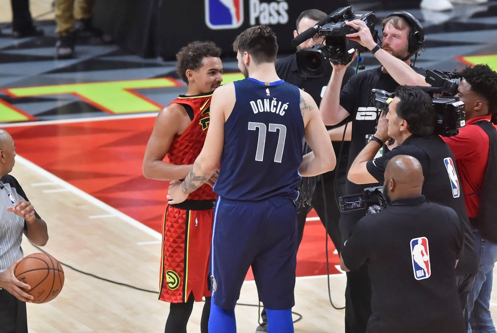 In a draft day trade, the Atlanta Hawks sent Luka Doncic to the Dallas Mavericks.