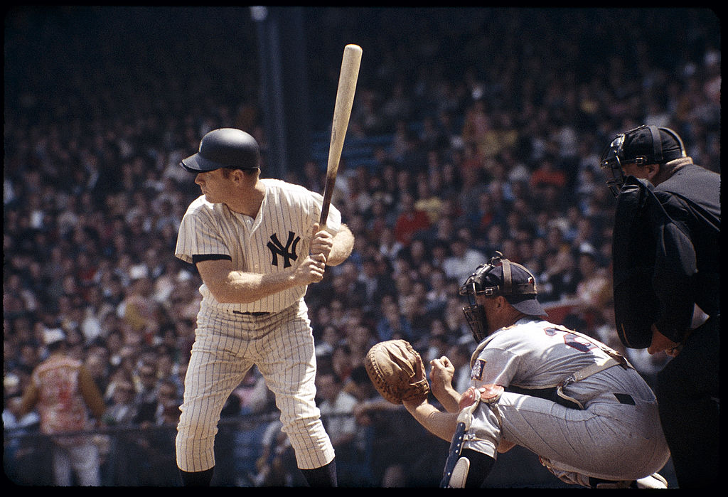 Mickey Mantle batting for the New York Yankees