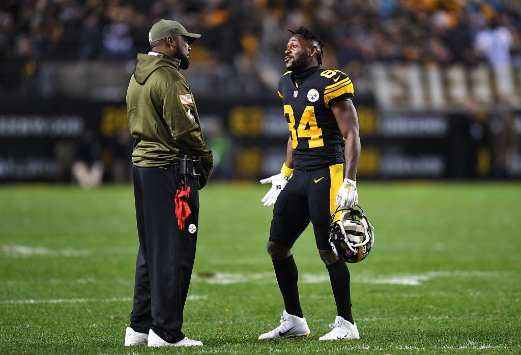 Steelers head coach Mike Tomlin and former wide receiver Antonio Brown