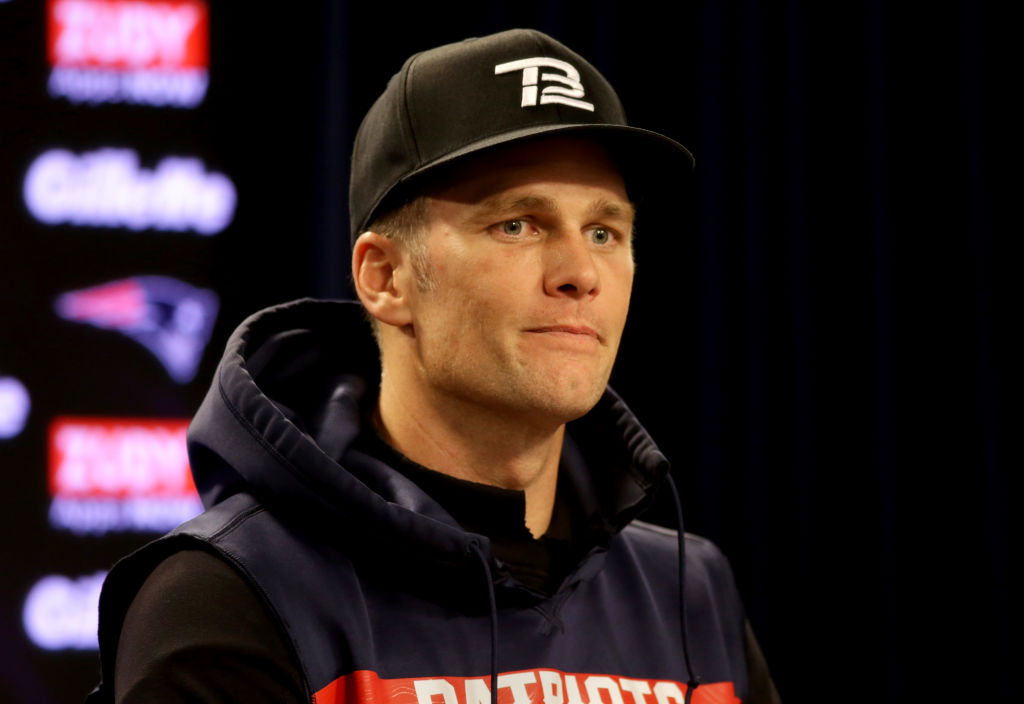 New England Patriots quarterback Tom Brady gives an afternoon press conference