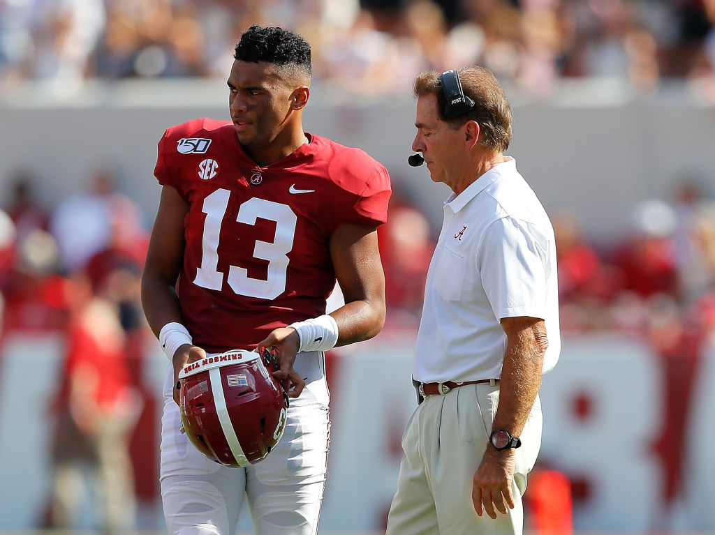 Nick Saban is already comparing Tua Tagovailoa to Drew Brees and Aaron Rodgers.
