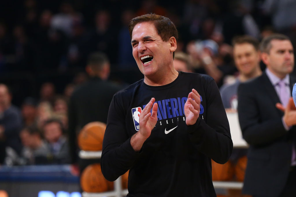 Mark Cuban, owner of the Dallas Mavericks looks on prior to a game