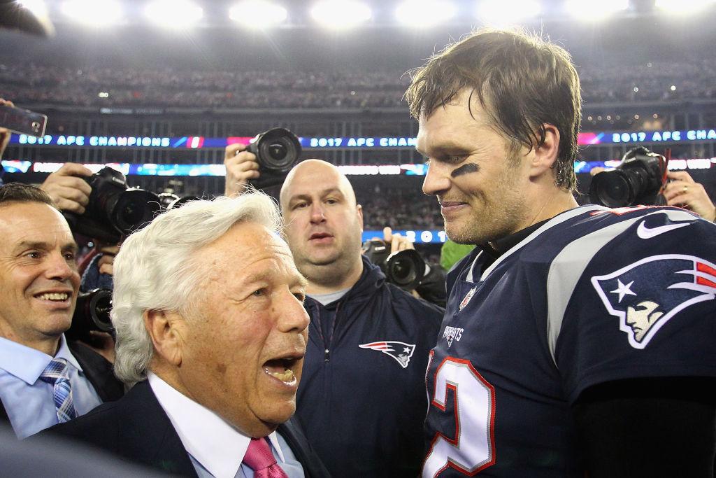 Patriots owner Robert Kraft and quarterback Tom Brady