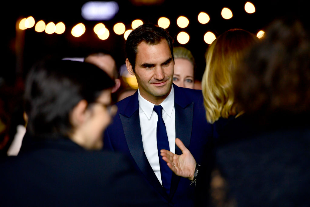Roger Federer attends the 13th Zurich Film Festival in 2017