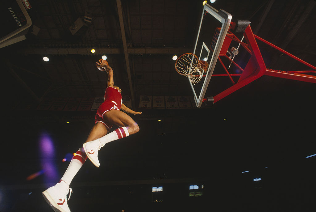 Dr. J has shone in both the NBA and ABA's Slam Dunk Contest.