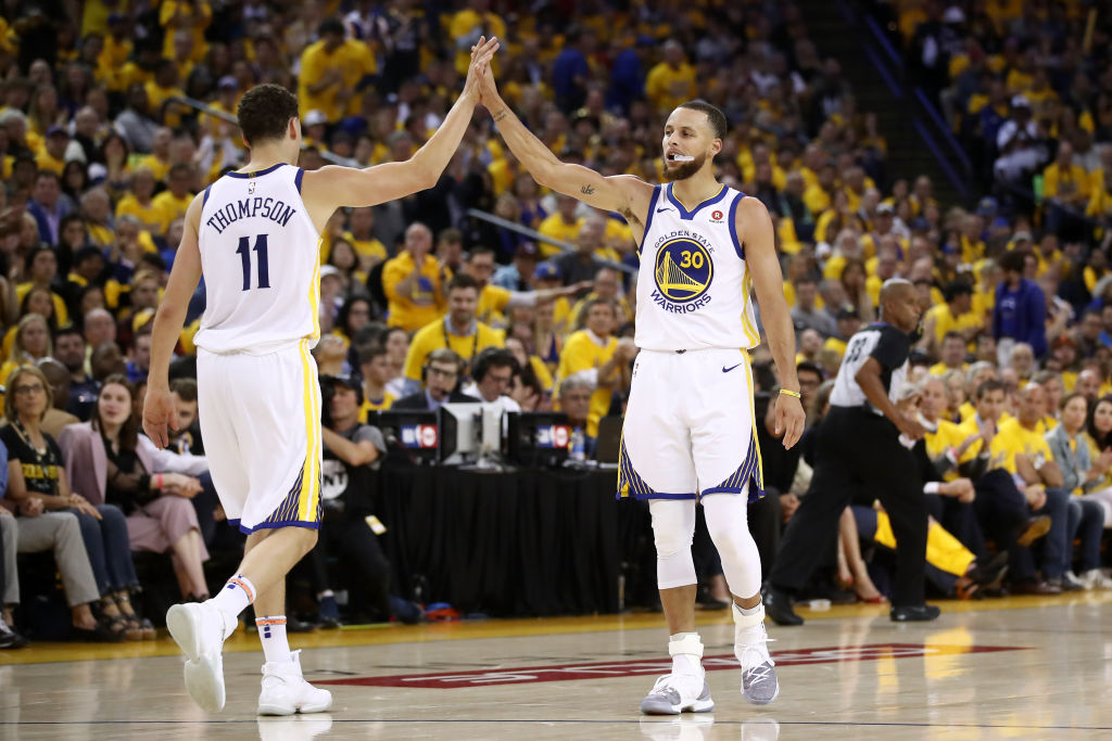 Warriors guards Stephen Curry and Klay Thompson