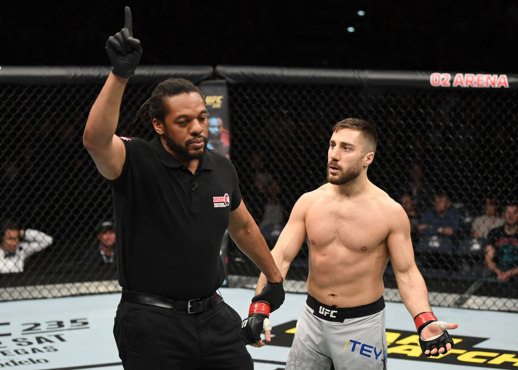 UFC referee Herb Dean calling a fight