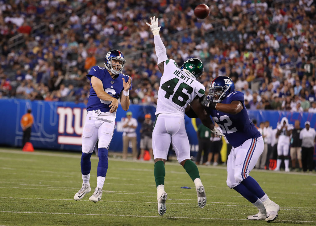 Alex Tanney of the New York Giants