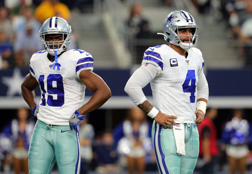 Cowboys wide receiver Amari Cooper and quarterback Dak Prescott