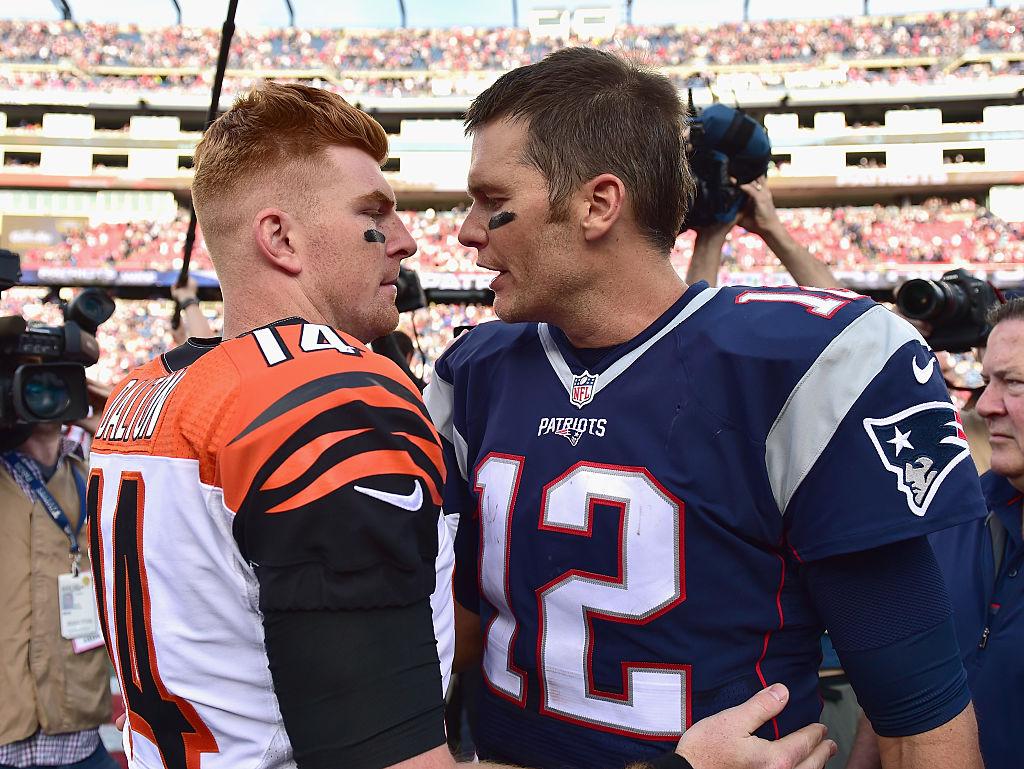 Andy Dalton and Tom Brady