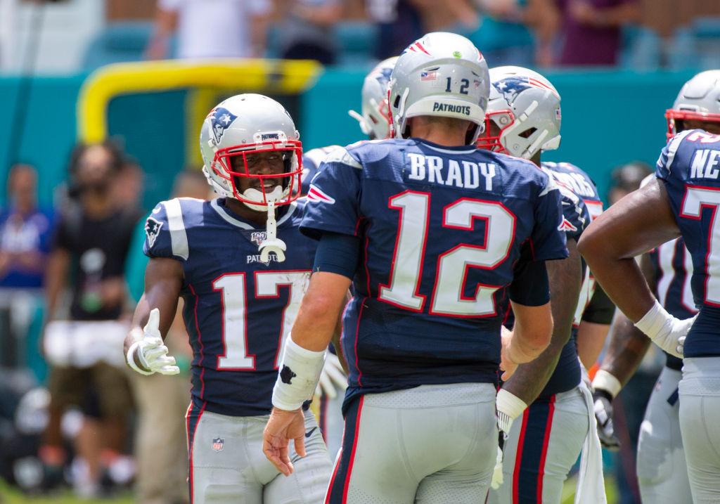 Antonio Brown and Tom Brady