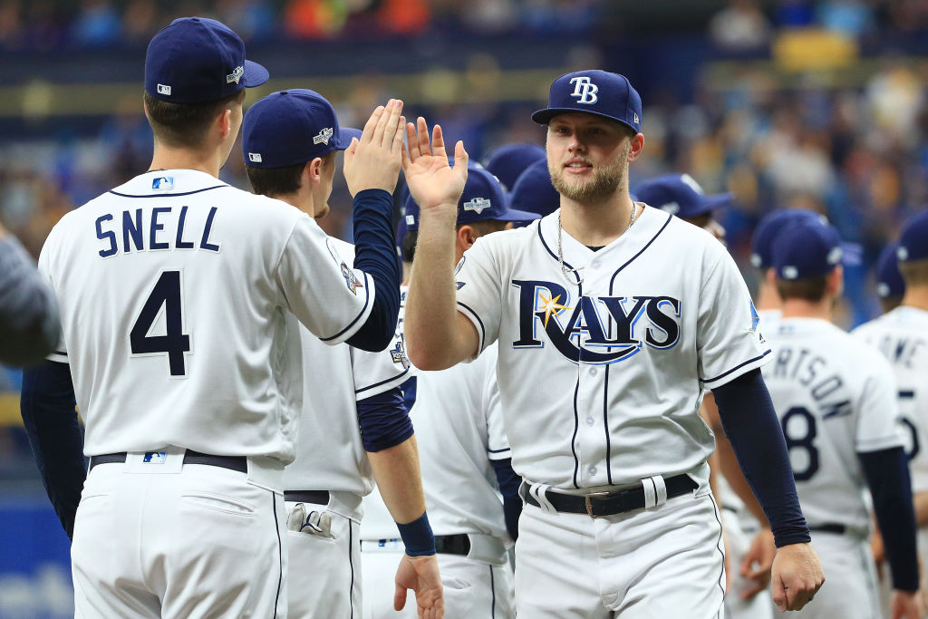 Tampa Bay Rays outfielder Austin Meadows hit 33 home runs in his first full season with the Rays in 2019.