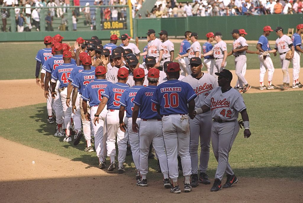 The Baltimore Orioles played two exhibition games against the Cuban National Team in March 1999.