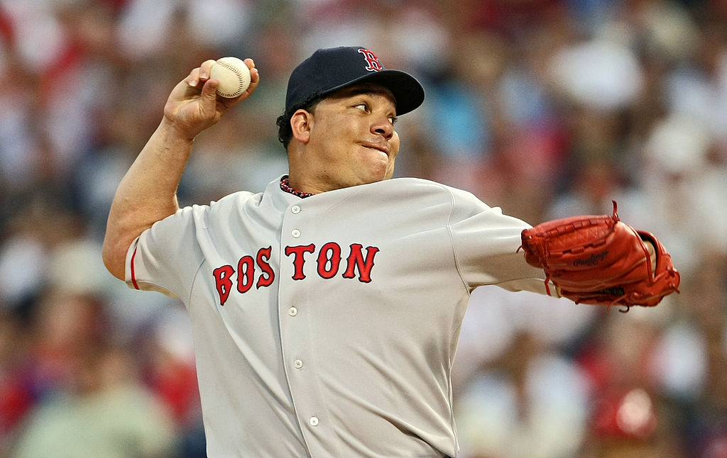 Baseball icon Bartolo Colon briefly pitched for the Boston Red Sox in 2008.