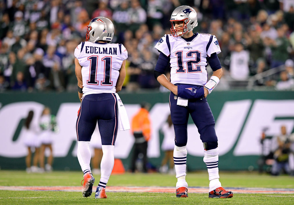 Julian Edelman and Tom Brady on the Patriots