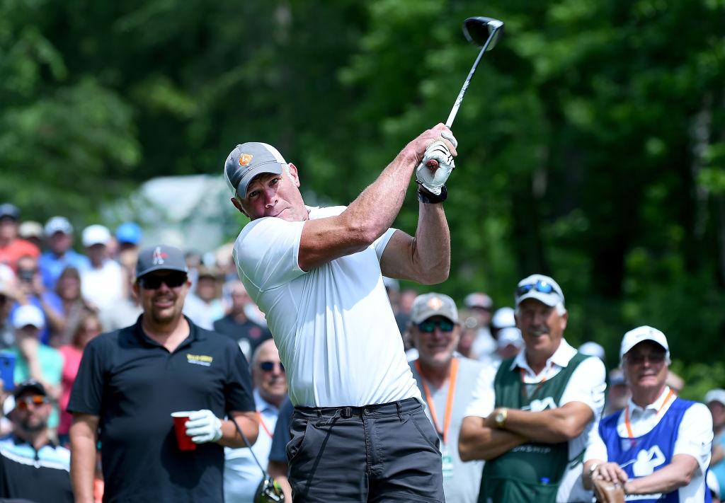 Brett Favre golfing.