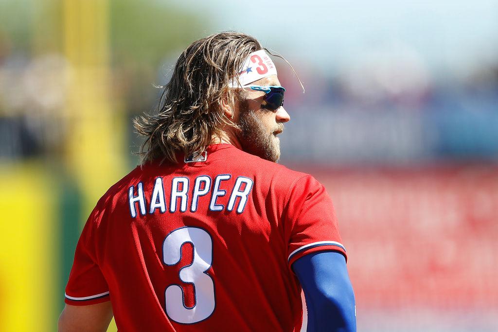 Philadelphia Phillies star Bryce Harper says he isn't worried about the coronavirus.